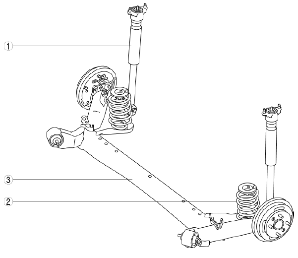 Mazda 2. REAR SUSPENSION LOCATION INDEX