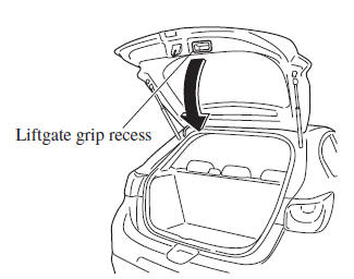 Closing the liftgate/boot lid