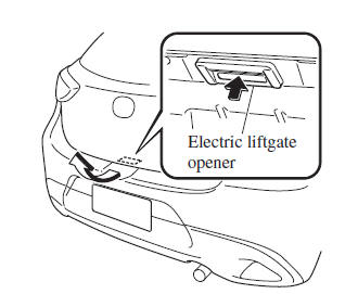 Using the electric liftgate opener