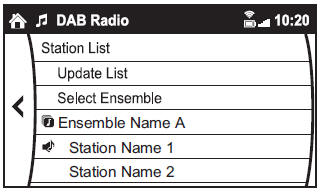 Example of use (Update station list and listen to DAB radio)